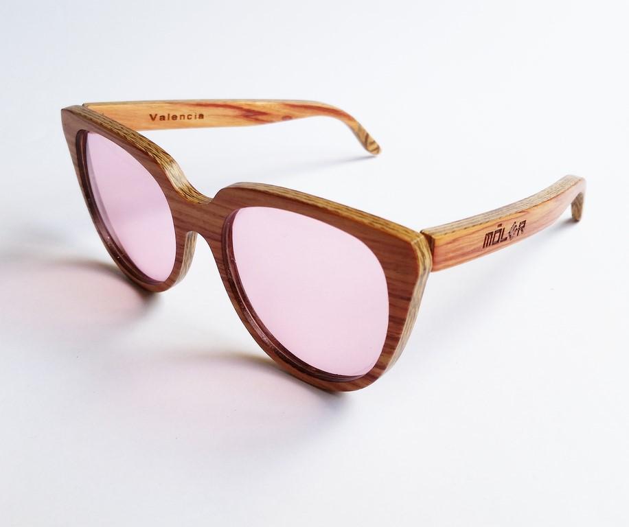Gafas de madera palo rosa rosewood