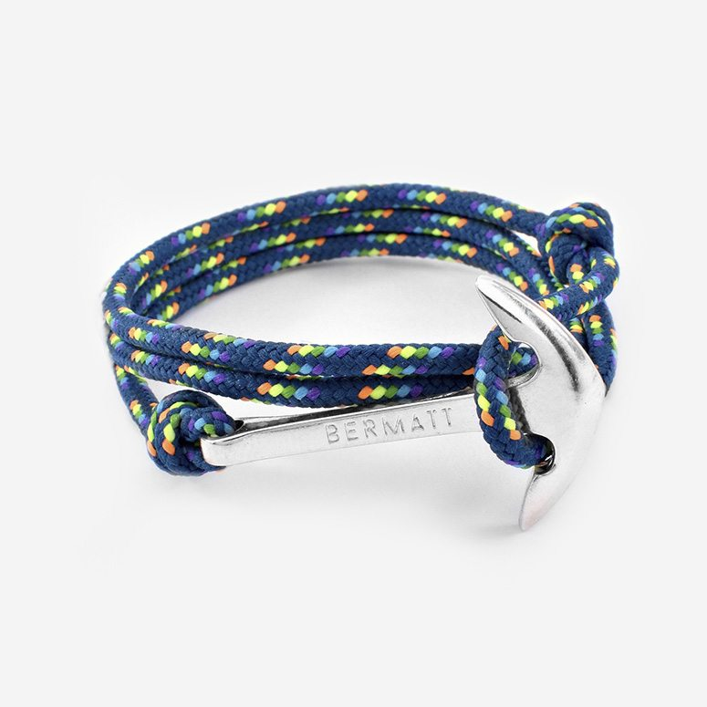 Pulsera ancla winter azul2
