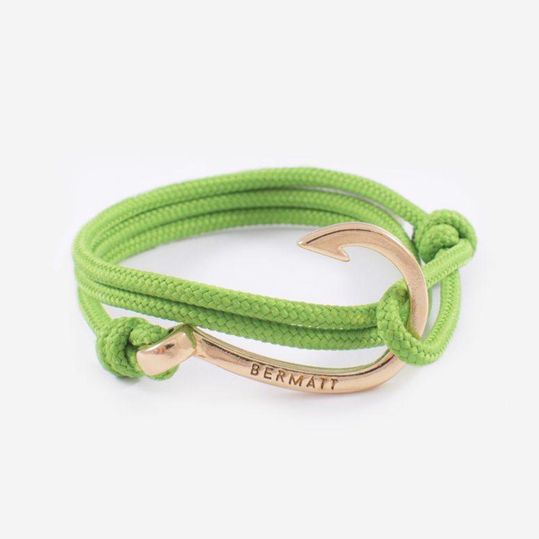 Pulsera anzuelo simple green2