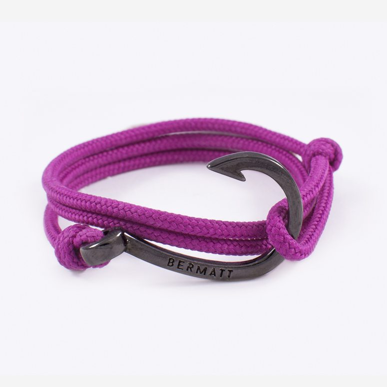 Pulsera anzuelo simple purple2