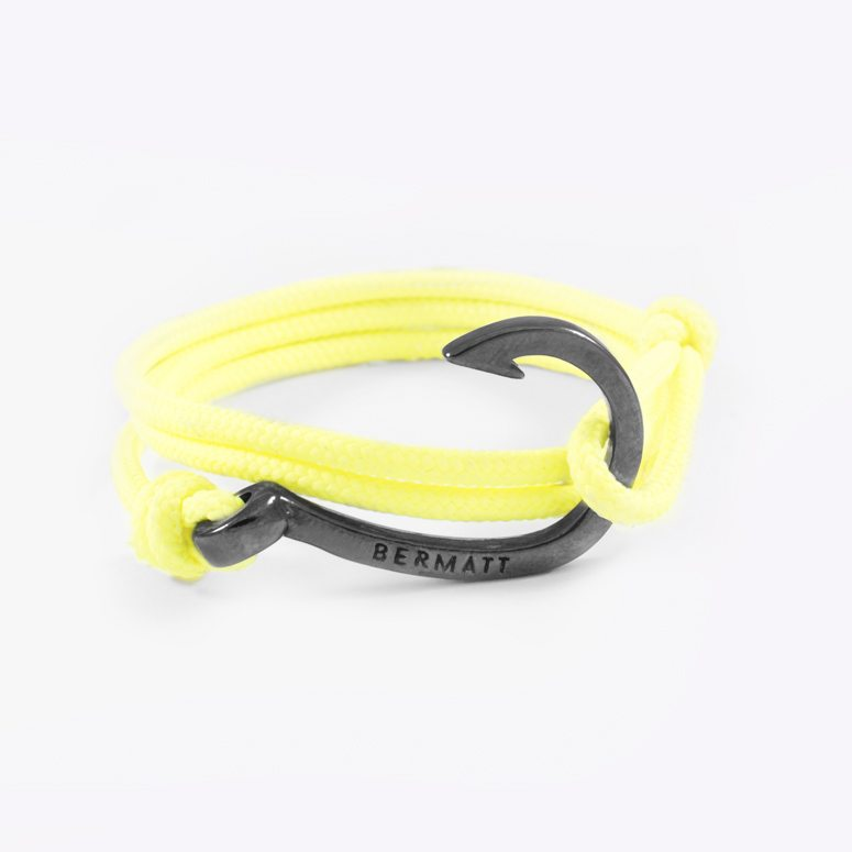Pulsera anzuelo simple yellow2