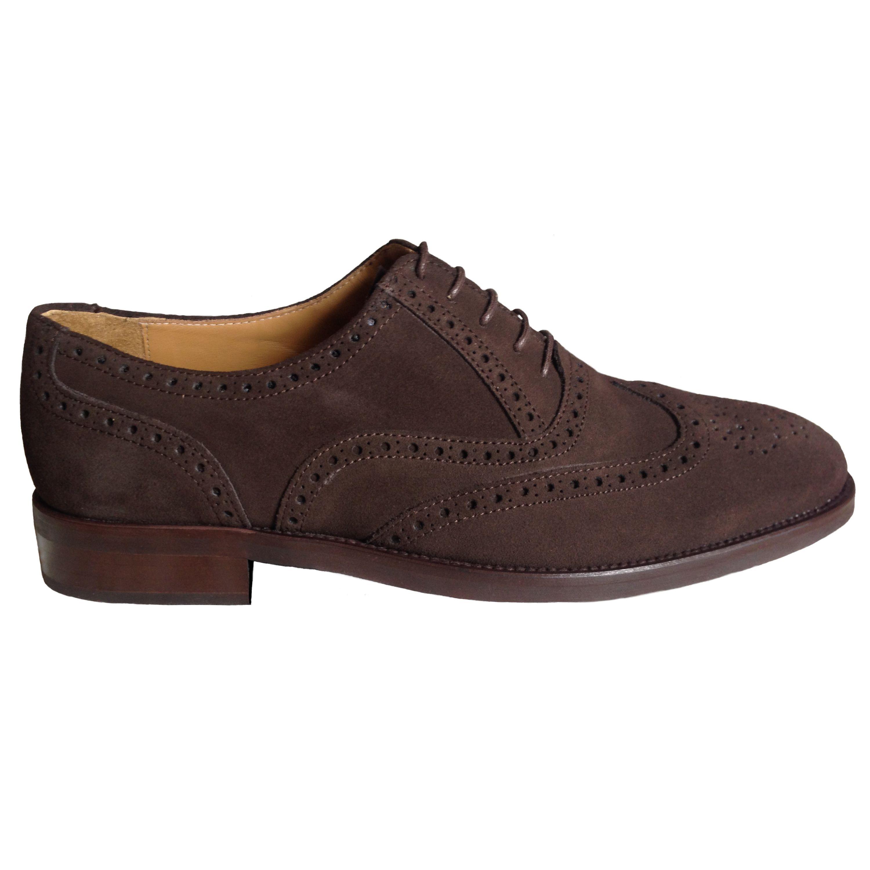 Zapatos brogue moka lateral