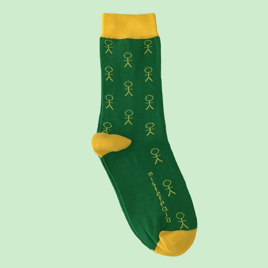 Calcetines misterpalo verde amarillo min