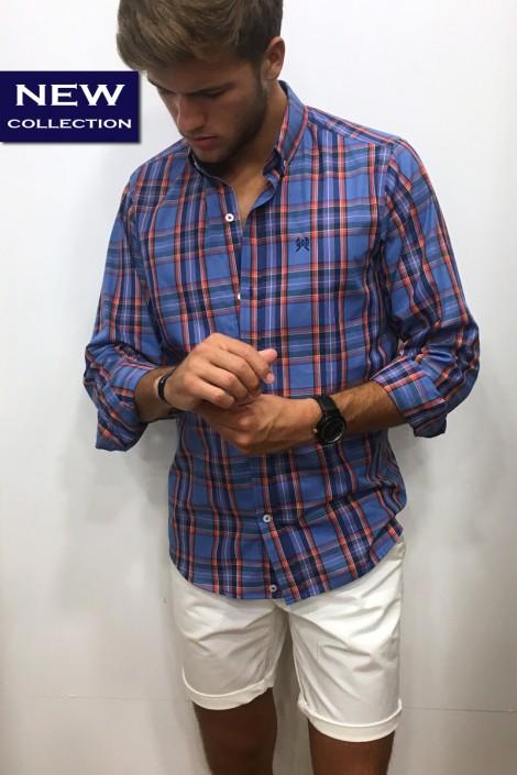 Camisa cuadros lila