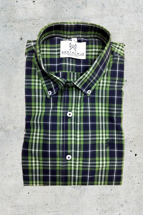Camisa cuadros verde