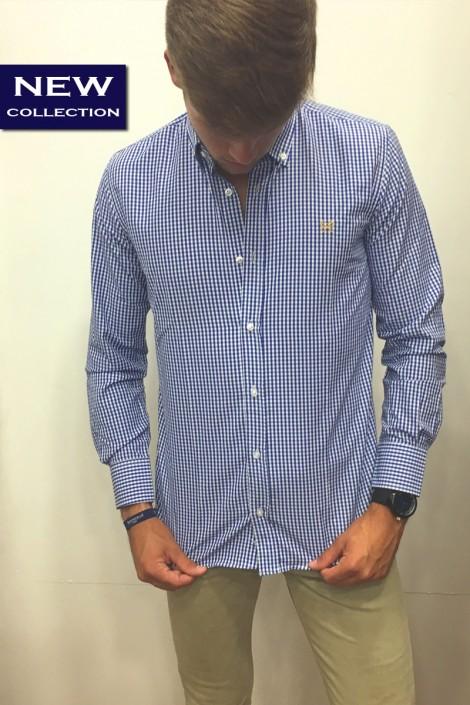 Camisa vichy azul