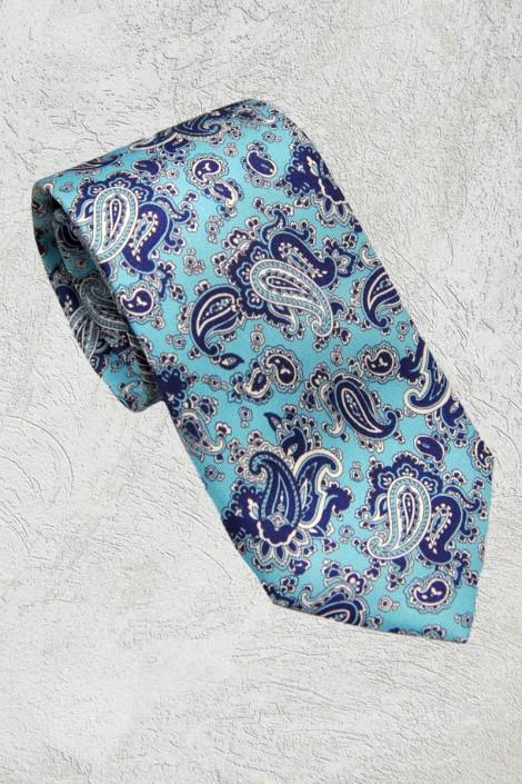 Corbata celeste cachemir