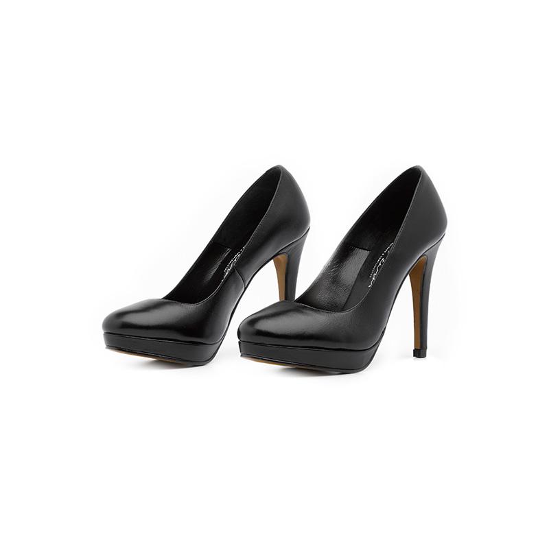 Elenazarate producto peeptoe jelly negro platt frontal zapatos de tacon