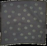 Panuelo12. blue circles pocketsquare compact