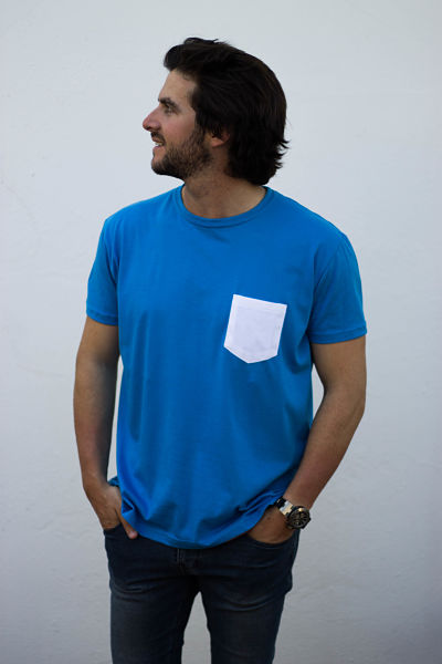 Pocket tee blue 1