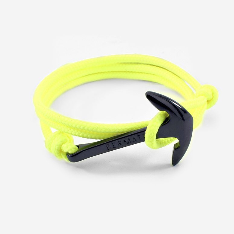 Pulsera ancla simple fluor amarillo2