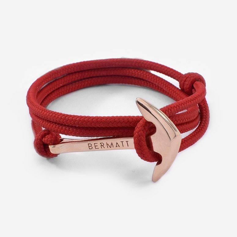 Pulsera ancla simple rojo2