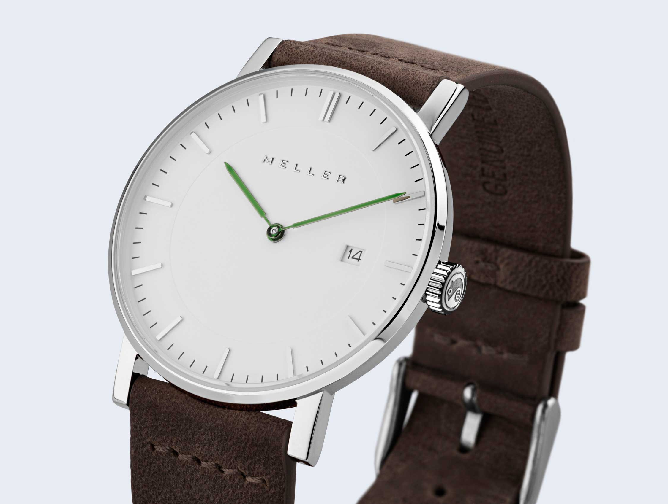 Reloj blanco grey earth web
