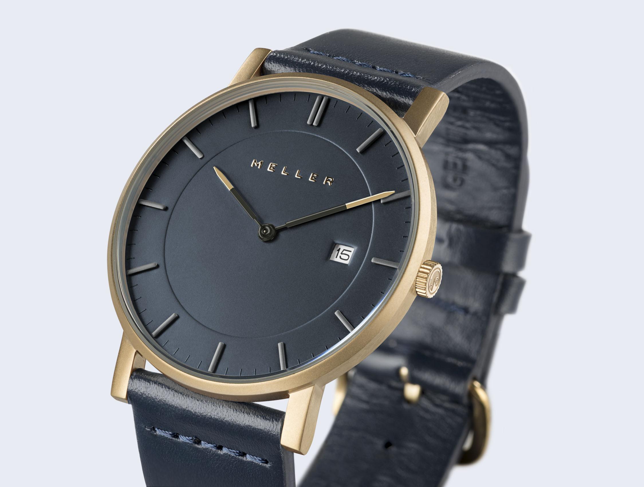 Reloj cuero azul 3
