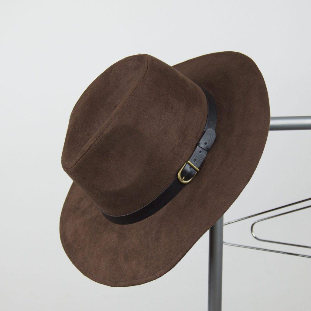Sombrero antelina marron